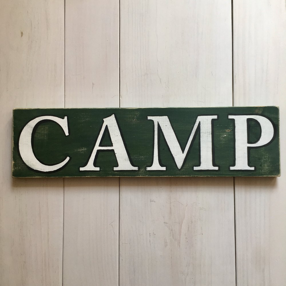 Rustic CAMP sign by Birch Landing Home