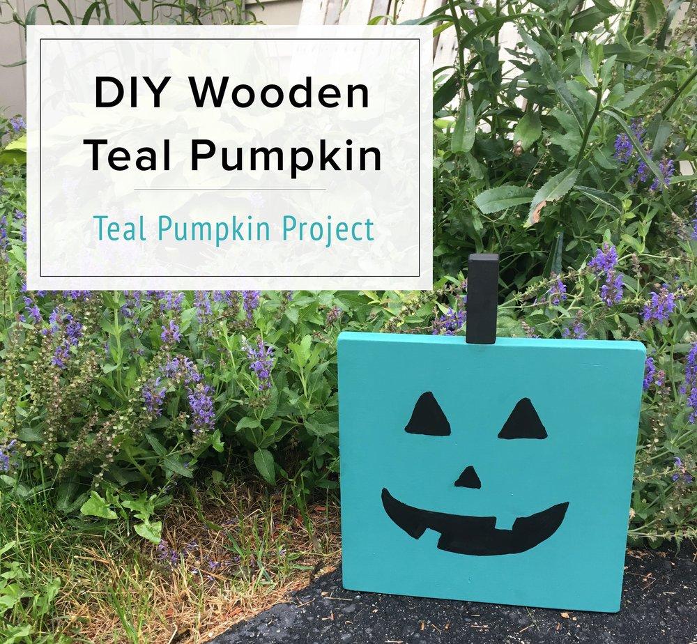 DIY Wooden Teal Pumpkin | Teal Pumpkin Project