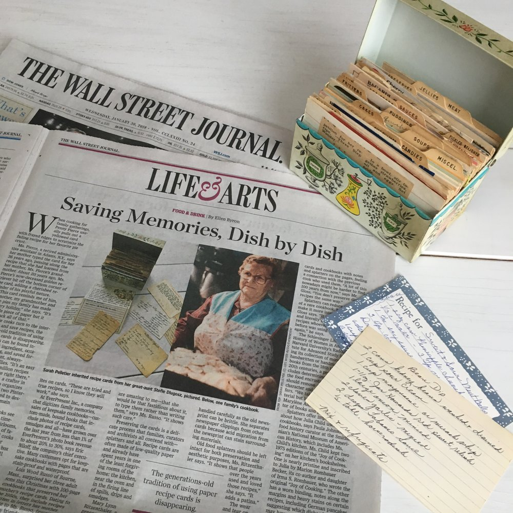 Saving Memories, Dish by Dish - Wall Street Journal Interview