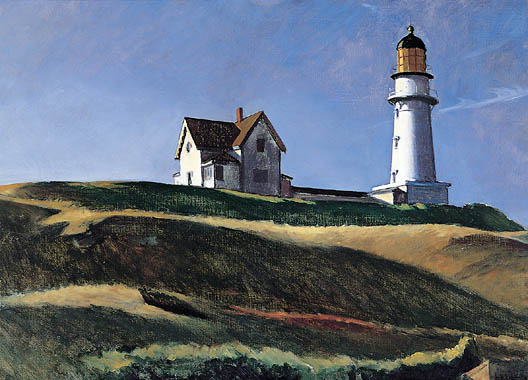 """For life is the best thing we have in this existence. And if we should desire to believe in something, it should be a beacon within. This beacon being the sun, sea, and sky, our children, our work, our companions and, most simply put, the embodiment of love.""   Patti Smith,  Just Kids   Edward Hopper,   Lighthouse Hill"