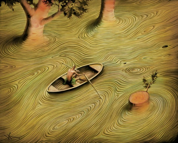 """I live my life in widening circles that reach out across the world. I may not complete this last one but I give myself to it.""    Rainer Maria Rilke,    Widening Circles    (Vladimir Kush's  Current )"