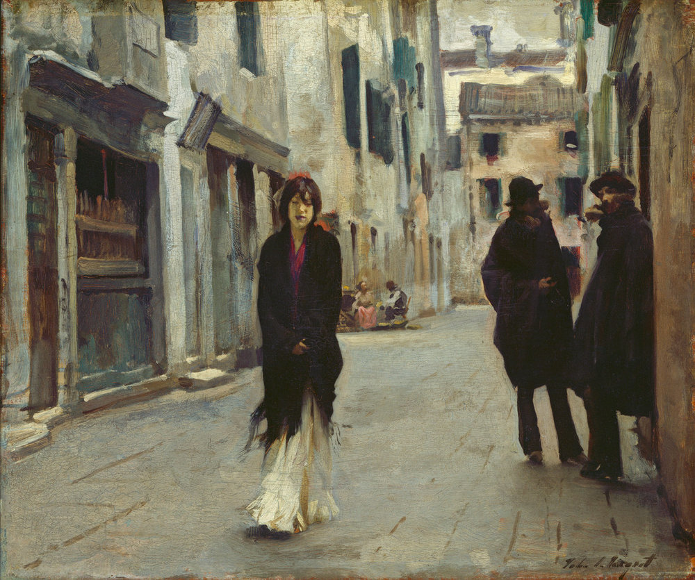 So much of what we live goes on inside– The diaries of grief, the tongue-tied aches Of unacknowledged love are no less real For having passed unsaid. What we conceal Is always more than what we dare confide. Think of the letters that we write our dead.    Dana Gioia,  Unsaid   (John Singer Sargent's  Street in Venice )