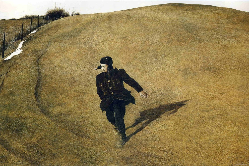 """All men should strive to learn before they die, what they are running from, and to, and why.""      James Thurber,    The Shore and the Sea     (Andrew Wyeth's  Winter )"