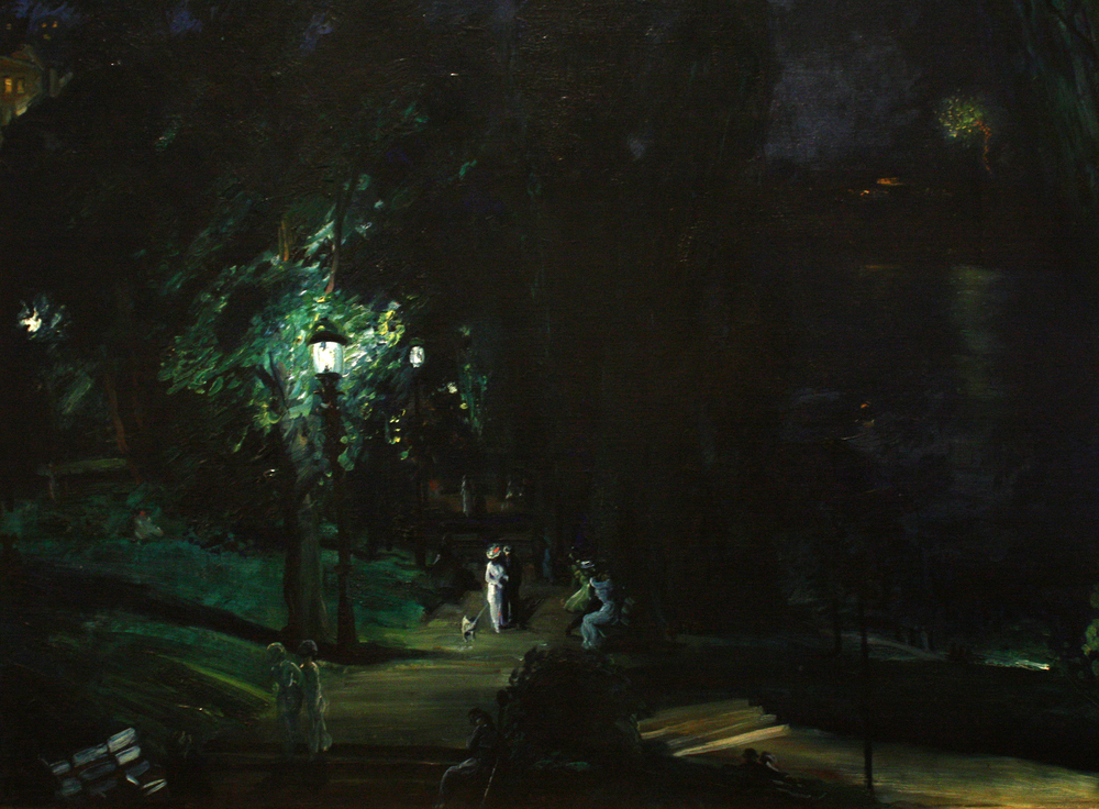 """For small creatures such as we the vastness is bearable only through love.""      Carl Sagan,  Contact     (George Wesley Bellows'  Summer Night, Riverside Drive )"