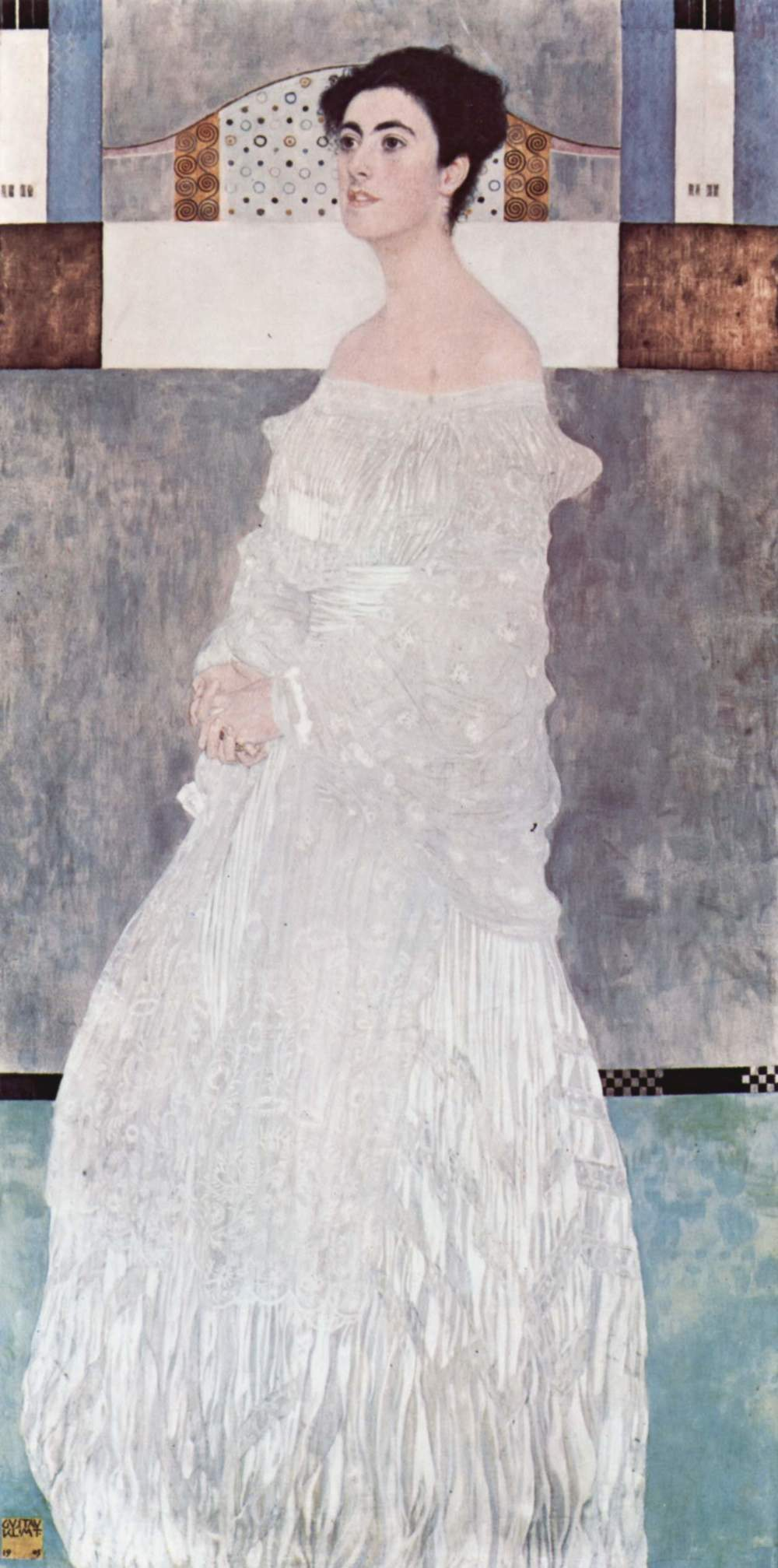 """The work of art is the object seen sub specie aeternitatis; and the good life is the world seen sub specie aeternitatis. This is the connection between art and ethics.""    Ludwig Wittgenstein, in  Notebooks 1914-1916   (Gustav Klimt, wedding portrait of  Ludwig's sister, Margaret )"
