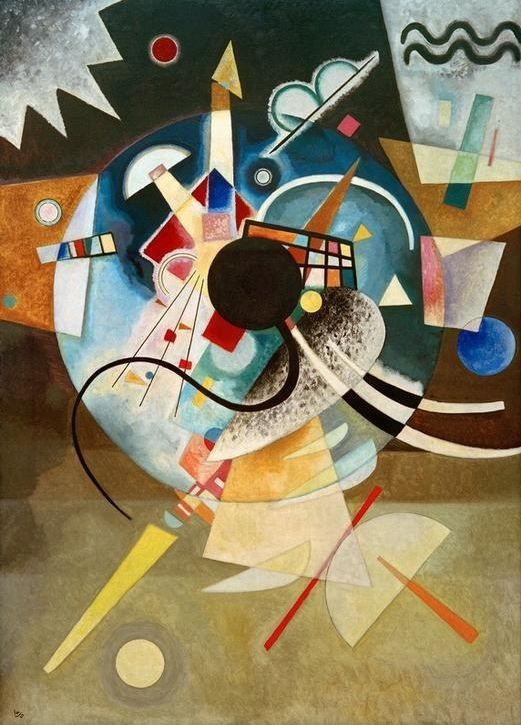 """Art has something to do with the achievement of stillness in the midst of chaos. A stillness which characterizes prayer, too, in the eye of the storm… Art has something to do with an arrest of attention in the midst of distraction.""   Saul Bellow,  Conversations with Saul Bellow   (Wassily Kandinsky's  A Center )"