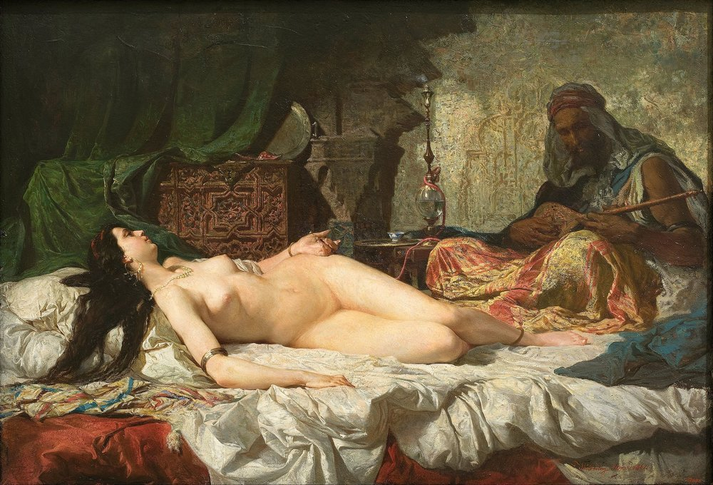 """Distraction is the only thing that consoles us for our miseries, and yet it is itself the greatest of our miseries.""   Blaise Pascal,  Pensées   (Marià Fortuny's  The Odalisque )"