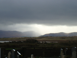 Cemetery between Castlemain and Inch, Co Kerry, Ireland. March morning.