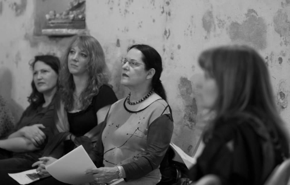 Reading with Marilyn Kallet in Auvillar