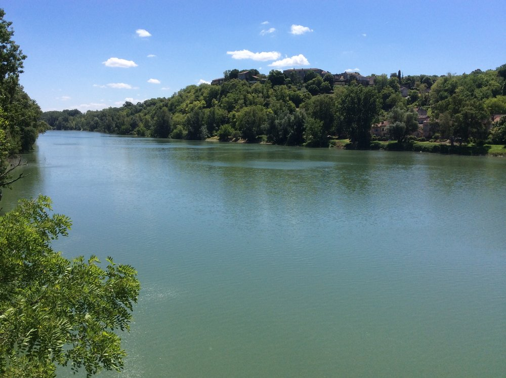 The Garonne River, Auvillar, France