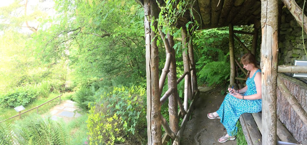 Writing in Wordsworth's Shelter at Dove Cottage