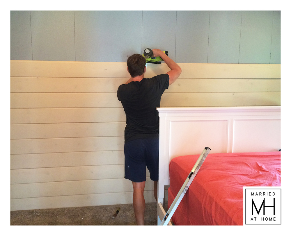 DIY Shiplap | Married At Home