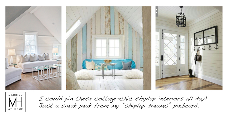 Farmhouse Detail Shiplap Walls Married At Home