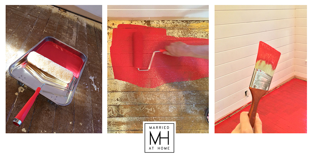 Red Floors | Married At Home