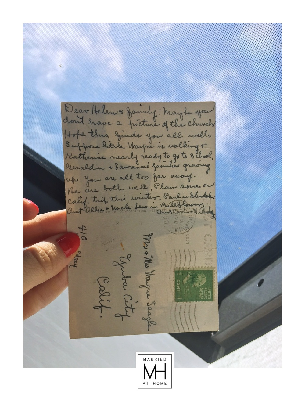 The Postcard | Married At Home