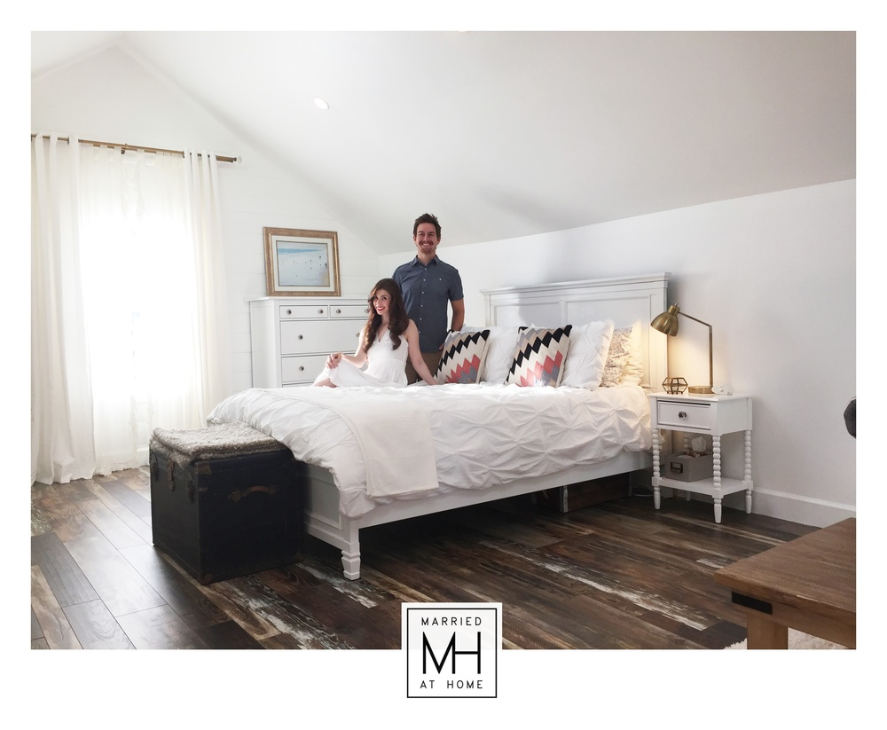The Loft Master Bedroom 39 S Big Reveal Married At Home