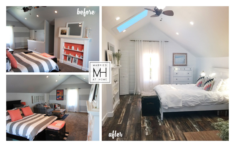 Farmhouse Loft Master Bedroom Renovation | Married At Home