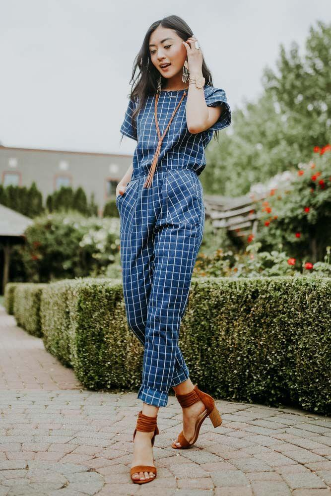 Right to the Square Jumpsuit in Navy