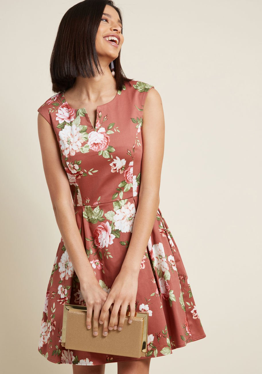 Especially Dandy A-Line Dress in Mauve