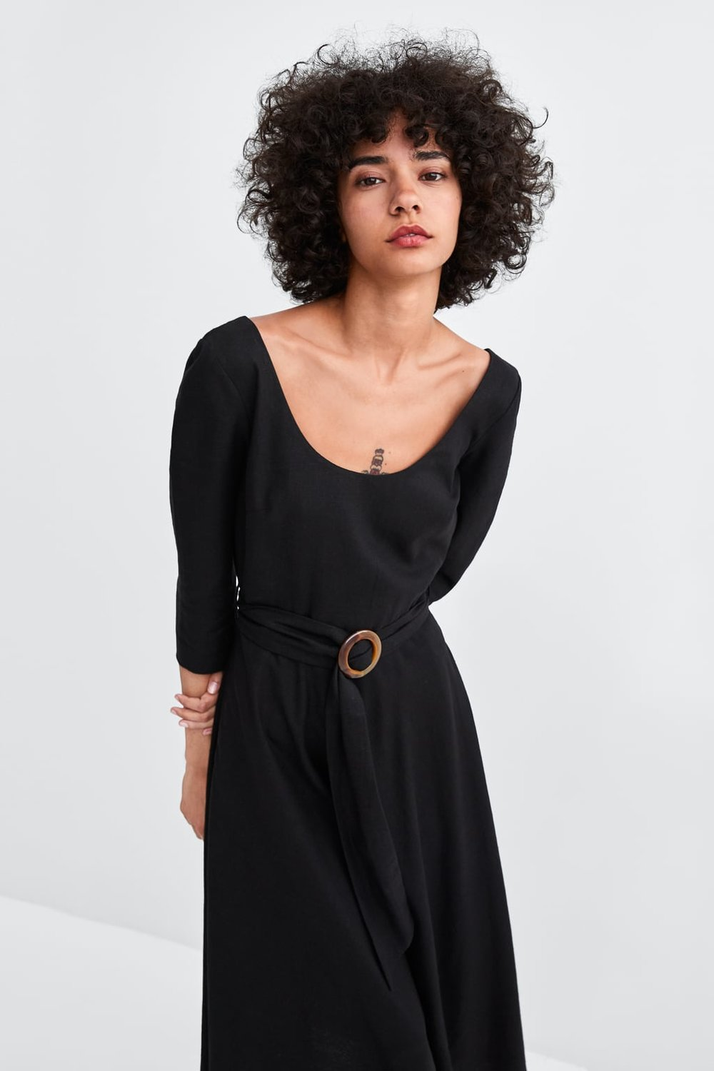 Dress with Buckle