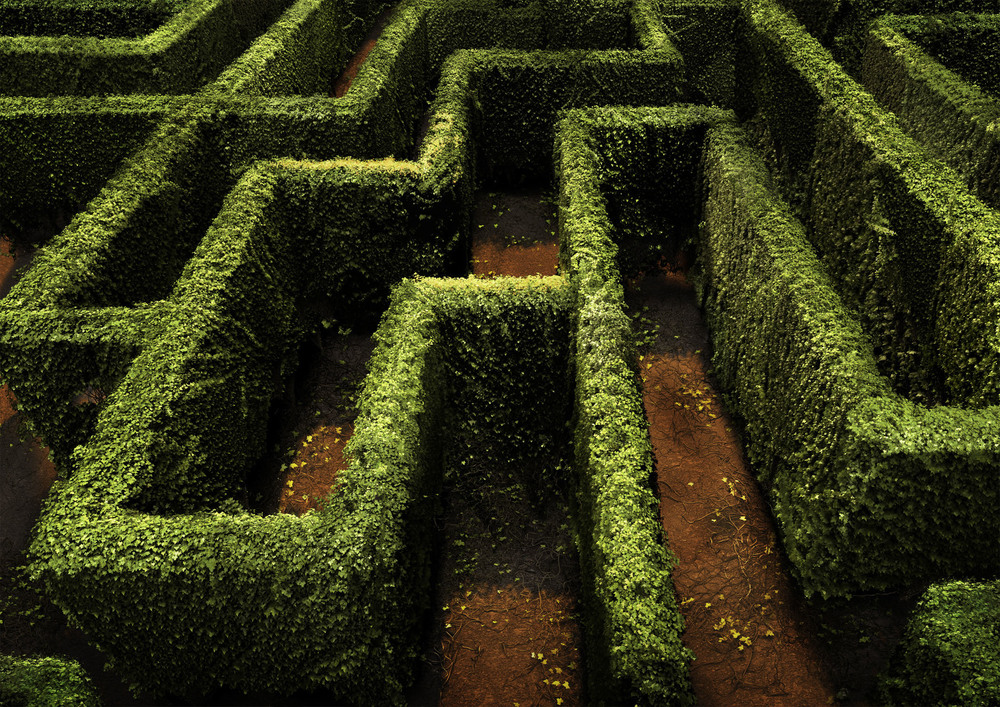 the full maze is created