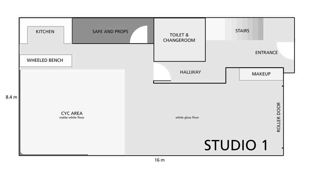 Studio 1 plan