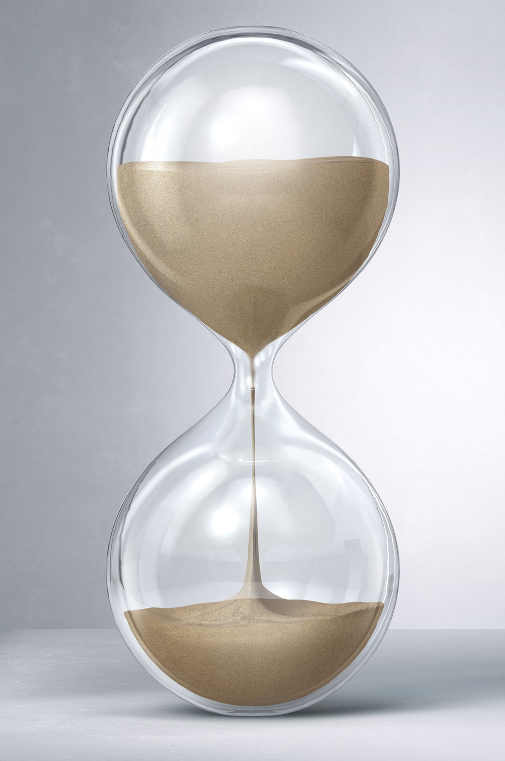 I texture, light and render the hourglass.