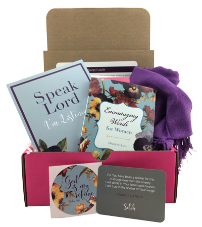 The Sanctuary Box - Create your own sanctuary wherever you are with this devotional and pashmina set.