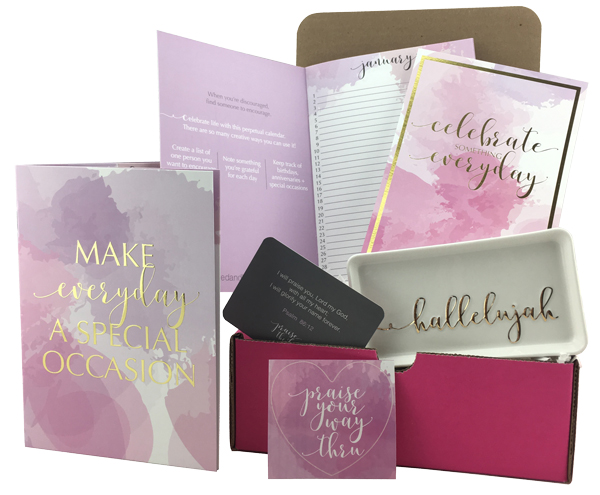 the Praise box - Encouragement to help you celebrate your way through the trials of life.