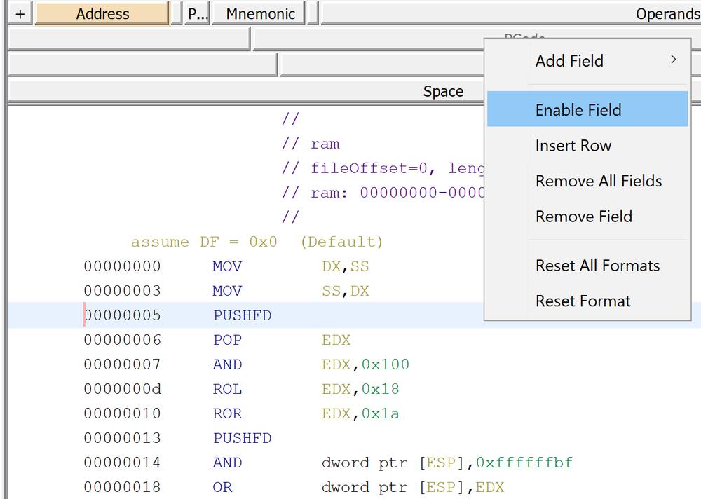 GhidraX86EnablePcodeProcedure.png