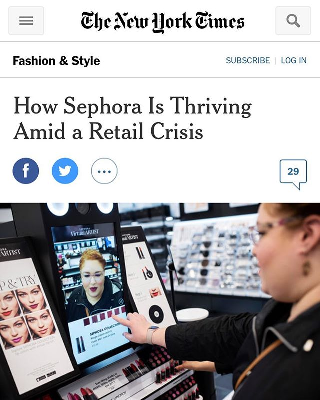 Congrats to our friends at Sephora for the great NYT press.