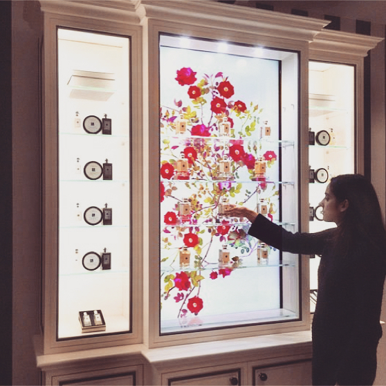 #TBT to our Clio-winning work with Jo Malone on the Fragrance Combining Digital Cabinet! You might be able to spot one in a store near you 🌺 see the unit in action on our website #fashion #beauty #interactive #digital #design #collaboration #inspiration