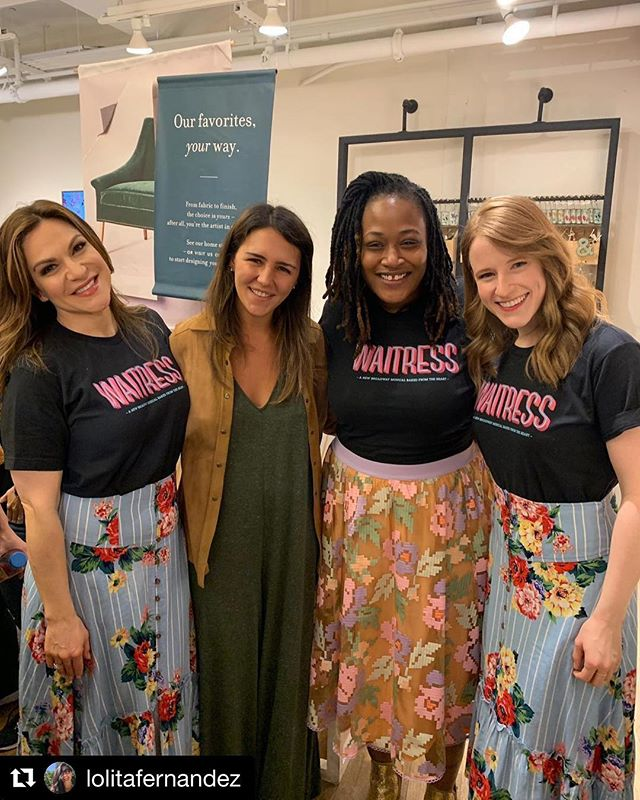 #Repost @lolitafernandez with @get_repost ・・・ We had once a life experience at our @anthropologie Chelsea market store today. The Broadway show @waitressmusical performed at our home design center. Thanks @go_broadway ! #home #antroevents #anthropologiehome #homestylist