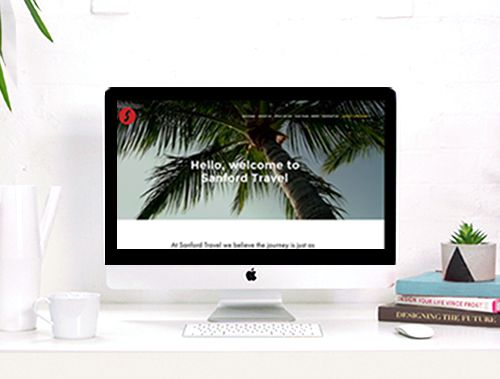<tag>design, photography, digital</tag>Sanford Travel<br>Website