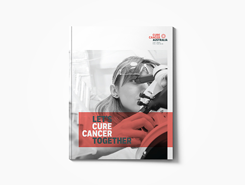 <tag>design</tag>Cure Cancer Australia<br>Brochure Redesign