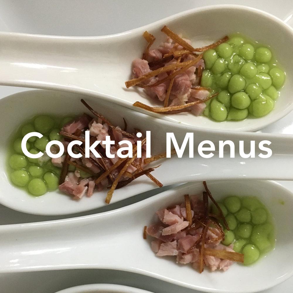 Copy of Artisan Cafe Cocktail Function Menus