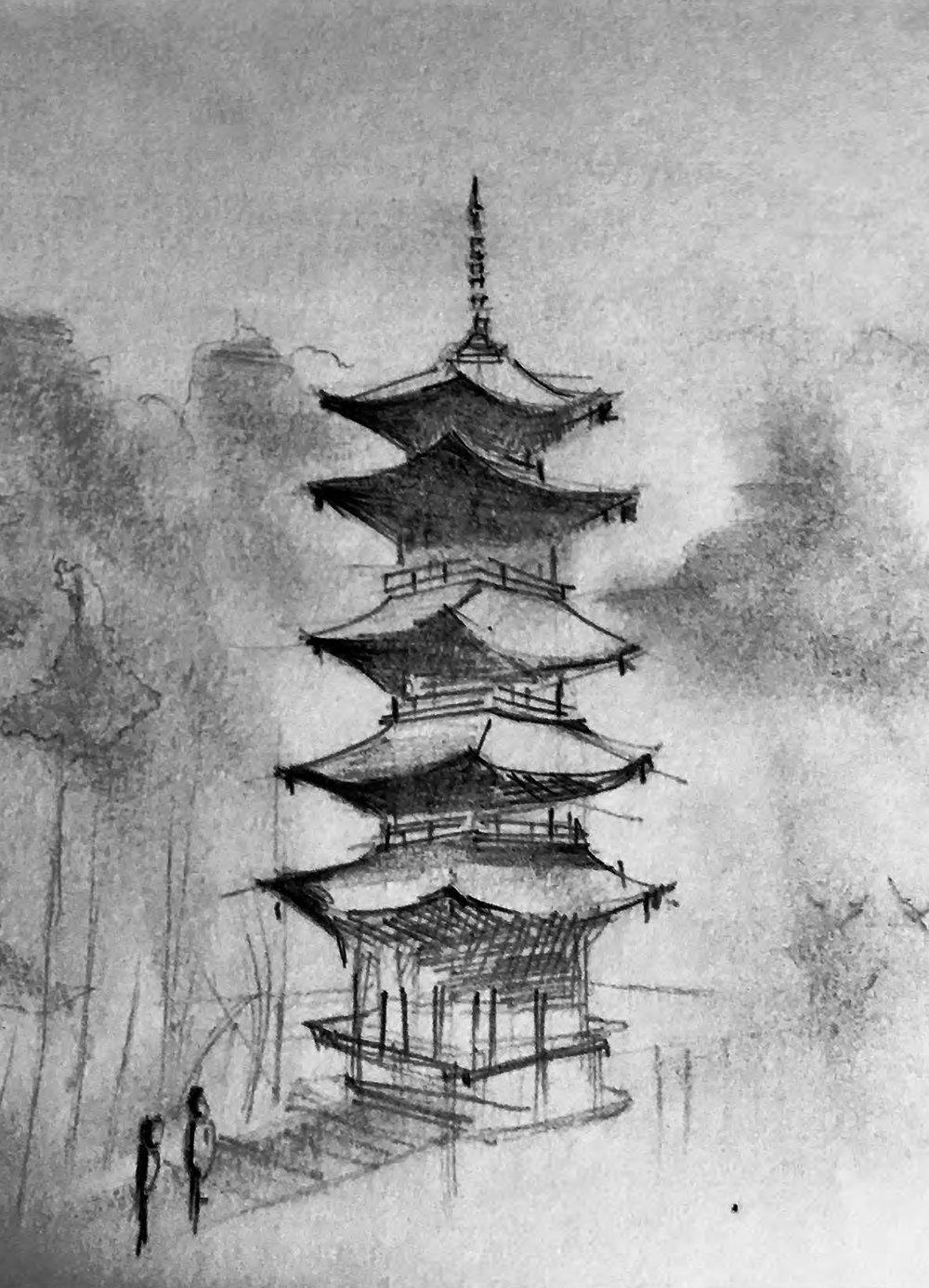 - Left: Myint San Aung, Kyoto PagodaBelow: Myint San Aung, Murin-an GardenJordan Draffin, Shigemori Mirei Residence