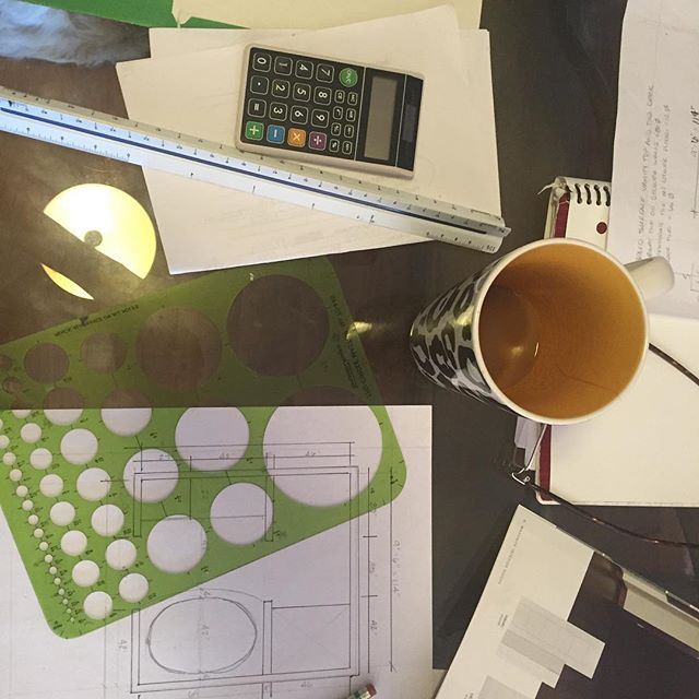 Inspiration always begins early in the morning with a cup of copy on the dining room table #interiordesign #idcollab #designinterior #drawing #inspiration