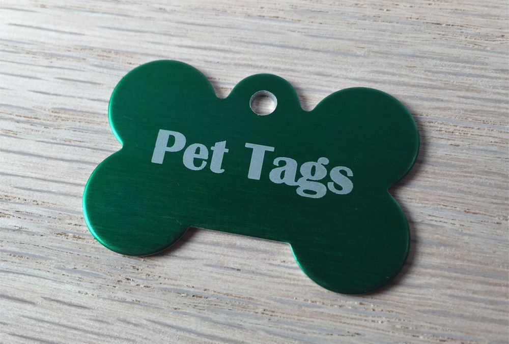A selection of pet tags with free delivery Australia wide