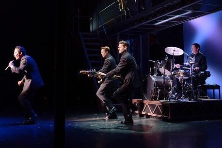 "Russ with the ""Jersey Boys"" at the Curran Theater in SF"