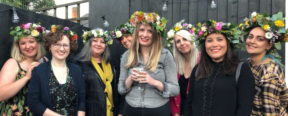 Floral crown workshop at Artefact