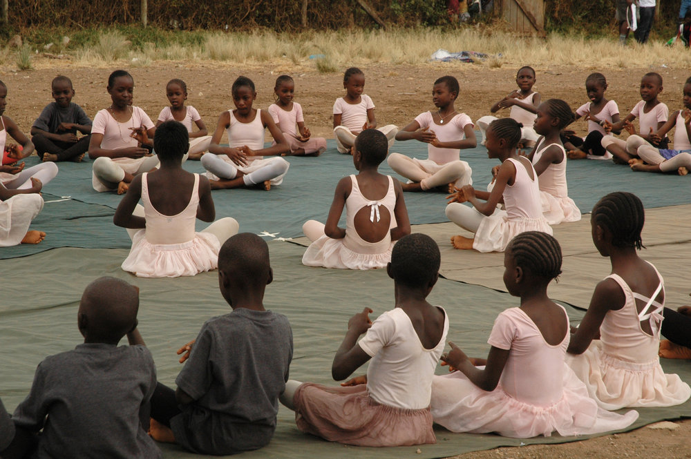 BALLET IS TAUGHT ALONGSIDE TRADITIONAL AFRICAN DANCE