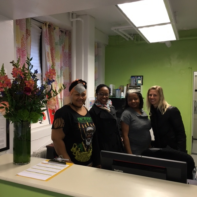 Delivering snapdragons and smiles to the Hudson Guild community center in West Chelsea, New York.