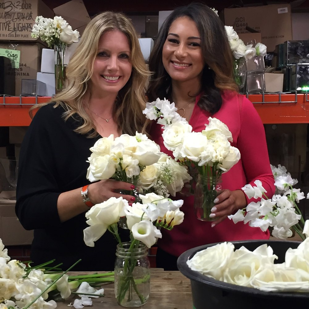 Repeat Roses CEO & Founder Jennifer Grove with NBC Nightly News reporter Morgan Radford