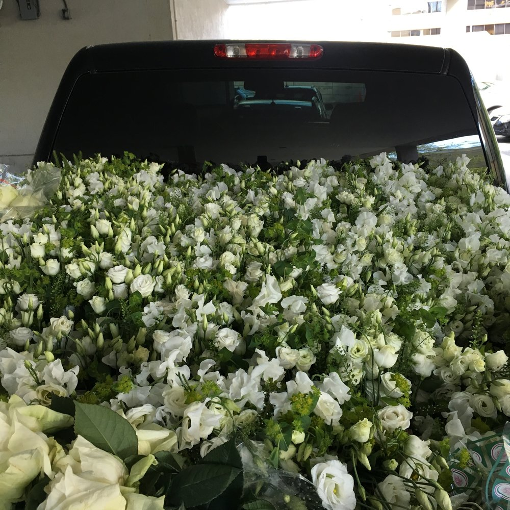 One of many stops delivering the joy of flowers to Inspirica's emergency shelters in Stamford, CT.