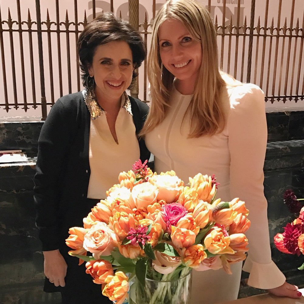 Martha Stewart Weddings  Editor Darcy Miller with Jennifer Grove, CEO Repeat Roses.