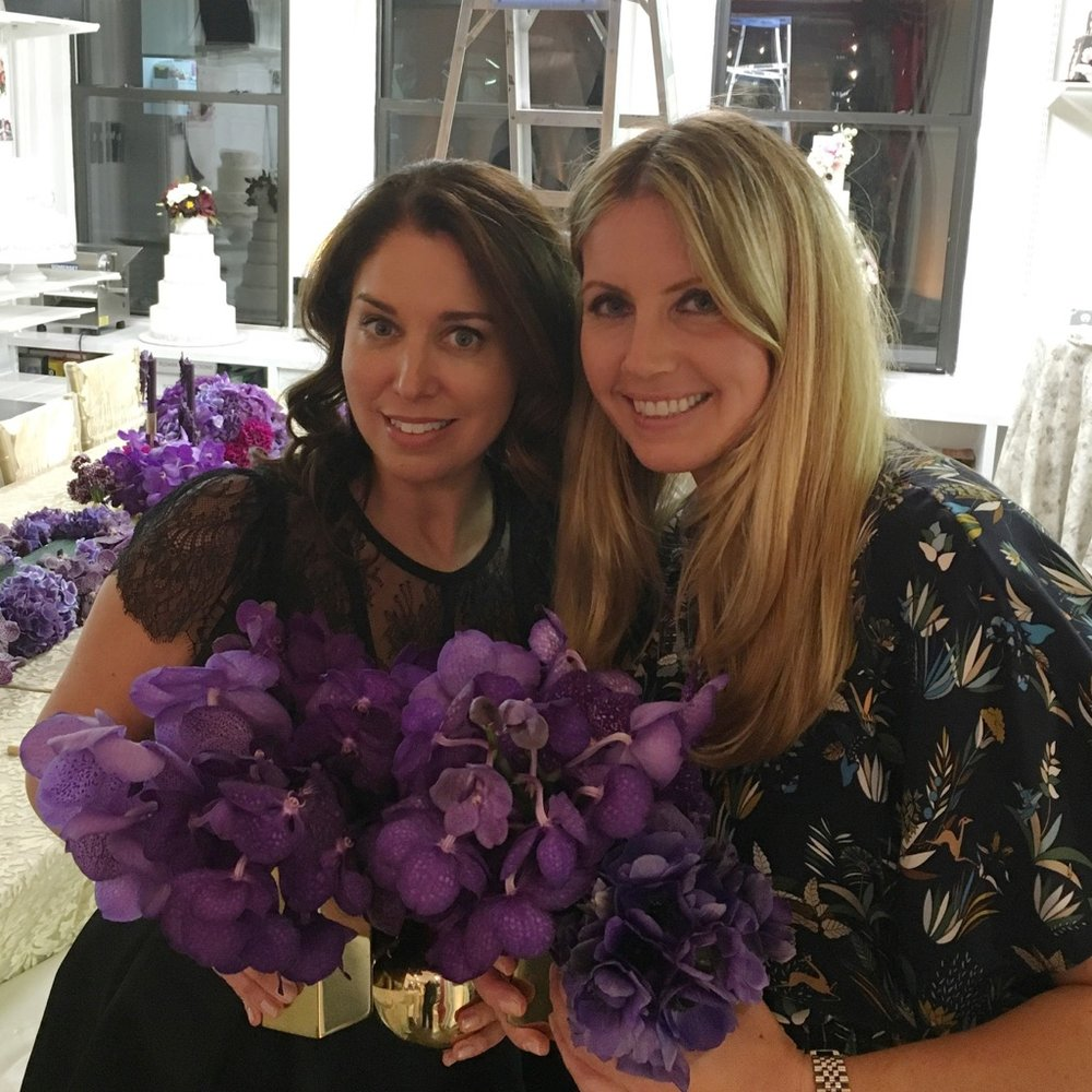 Meredith Perez, Co-Founder of Belle Fleur New York with Jennifer Grove, CEO Repeat Roses.