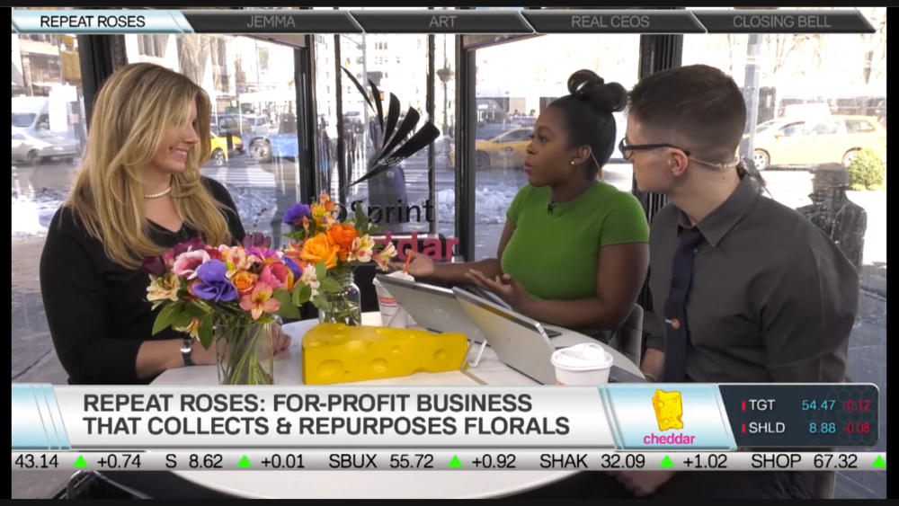 Between the Bells: Repeat Roses Founder & CEO Jennifer Grove talks all things sustainability, social impact and floral waste on Cheddar TV.