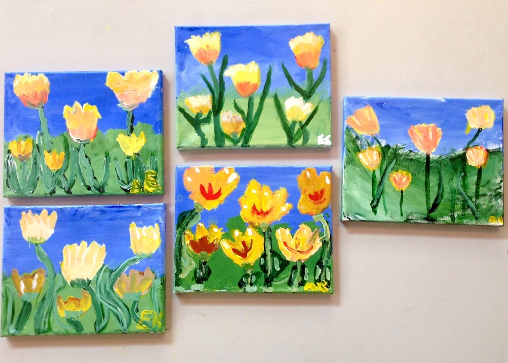 Some of the Paintings by Brownie Troop #60390