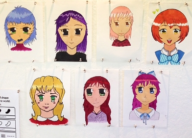 A selection of some of the drawings from students in our July Summer 2016 Manga Camp.